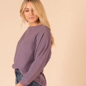Agnes And Dora batwing pullover